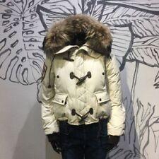 Cotton Blend Patternless Puffer Coats & Jackets for Women