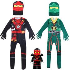 Boys LEGOO Ninjago Lloyd Kai Deluxe Costume Kids Ninja Canival Party Fancy Dress