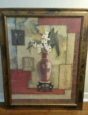 "C. Winterle Olson Original Signed Oil Painting w/Frame MINT White Floral 27""x33"""