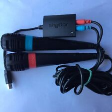 PS2 2x SingStar Microphones Red & Blue Original Set Plus PLAYSTATION  2 Sony USB