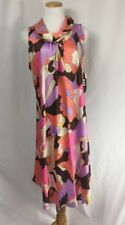 ONLY YOU ✨ OS Mod Pucci Print Cowlneck Sleeveless Caftan Lounge Dress NWT ✨ FAB!