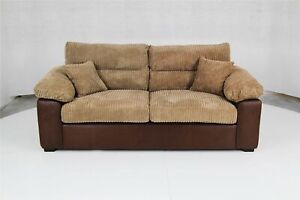3 SEATER SOFA AMEBA RINHO BROWN/JUMBO MOCHA HIGH QUALITY BRAND NEW FREE DELIVER