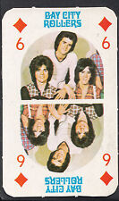 Monty Gum 1970's Gum Card - The Bay City Rollers Music Card - Six of Diamonds