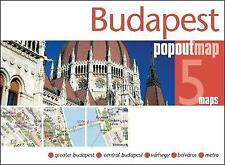 BUDAPEST POPOUT MAP - NEW - CURRENT EDITION - POCKET - POP OUT