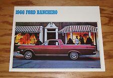 1966 Ford Ranchero Sales Brochure 66 Pickup Truck