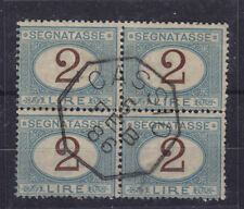 ITALY - J15 POSTAGE DUE - Scarce BLOCK w CASSIO Cancel - SIGNED by Alberto DIENA