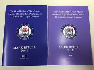Masonic Mark Master Mason Ritual Books No 1 or No 2