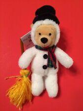 Disney Winnie The Pooh Snowman Mini Bean Bag 9 in With Tags