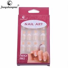 Kit 12 Unghie Finte french manucure , Color Carne / Rosato Tips French Nails