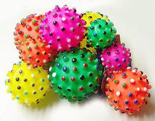 Hundespielzeug Vinyl Noppenball m Quietscher Ball für Hund 3 Größen