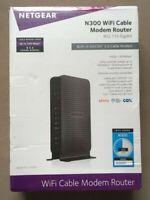 NETGEAR C3000-100NAS N300 (8x4) WiFi DOCSIS 3.0 Cable Modem Router