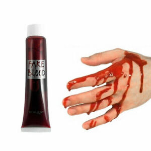 FAKE BLOOD Zombie Halloween Fancy Dress Red Make Up Gel Cream Vampire Horror