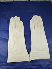 Woman's Vintage Mark Cross Off White Doeskin Gloves Made in England Size 7