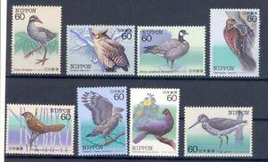 Japan 8 versch. Vögel  ** MNH  (8152
