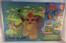 Disney Junior The Lion Guard 8 Puzzle Pack w/ Floor Puzzle! NIP Age 5+ Free Ship