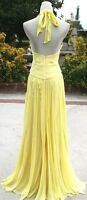 NWT BCBG MAXAZRIA $668 Pale Lime Silk Prom Party Gown 6