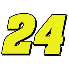 "4"" Jeff Gordon Number 24 Vinyl Window Decals Stickers Hendrick Motorsports"