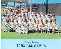 1980 ALL STAR TEAM NATIONAL LEAGUE 8X10 PHOTO BENCH KINGMAN ROSE BASEBALL CARTER