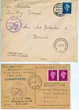 NED 1947 2 x COVER/BRIEFKAART  HELICOPTER N. BRUSSEL