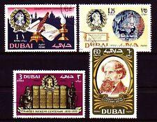 Dubai 1970 Mi.371/74 fine used c.t.o. Charles Dickens Bücher Books Literatur