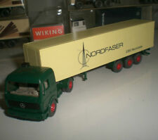 WIKING 24 542 SEMI-TRAILER CAMION MERCEDES BENZ 1626 NORDFASER SCALE 1:87 HO NEW