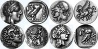 Athena Pegasus Alexander Athena Drachm 4 Greek Coins Percy Jackson (3GREEKSET-S)