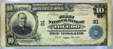 FINE 1902 $10 FIRST NATIONAL BANK OF TOLEDO OHIO CH# 91 NATIONAL CURRENCY   (85)