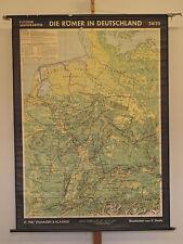 Schulwandkarte Deutschland Römer Germania and Romans 138x188cm vintage loft 1961