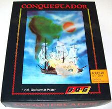< CONQUESTADOR > Disk für Commodore C 64 / C 128 Game mit OVP BOXED (Z1G012)