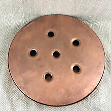 Antique French copper warming pan Food Warming Heater stand