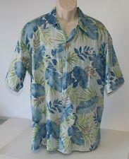 Tori Richard Mens Hawaiian Shirt XL Poipu Bay Hawaii Palm Hidden Pocket EUC USA