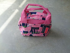 New Simply Southern Lunch Box Bag Tote Pink Zebra Insulated Travel Cooler Beach