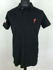 California Republic Specialized Polo Shirt Men's Size L Black Cotton Top Jersey