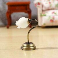 1:12 Puppenhaus Möbel Tulip Blume Typ Wandleuchte LED Licht Batterie Betrie D3E6