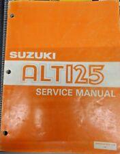 Suzuki ALT125 OEM Service Manual