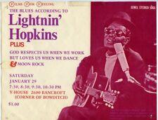 Lightnin Hopkins 1969 UC Berkeley Blues Poster Handbill California J6903