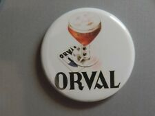 Pin Button Badge with Magnet Ø38mm  ORVAL (bière)