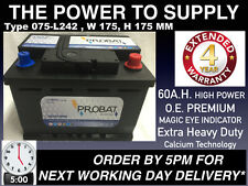 VAUXHALL INSIGNIA CAR Battery NEW Extra Heavy Duty 60Ah NEXT DAY DEL ORDER BY5PM