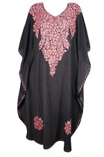 BOHEMIAN WOMENS KASHMIRI LONG CAFTAN BEAUTIFUL EMBROIDERED MAXI KAFTAN DRESS