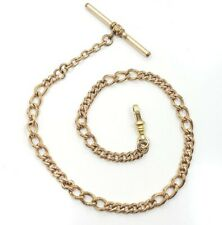 Great Vintage Victorian Yellow Gold Filled Link Pocket Watch Chain