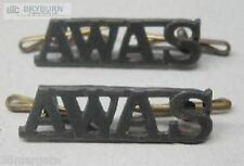 Australian WW2 A.W.A.S. Metal Shoulder Titles