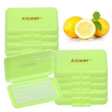 50 Boxes AZDENT Dental Orthodontic Wax Yellow-Lemon Scent For Braces Oral Care