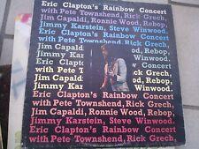 """LP 12"""" ERIC CLAPTON'S RAINBOW CONCERT LIVE RSO SUCCESSO COVER EX VINILE N/MINT"""