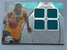Chris Paul 2007-08 UD Exquisite Collection EXTRA Quad Jersey Game Worn Used #/25