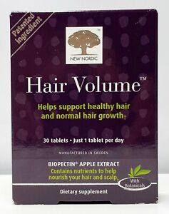 Nordic Hair Volume Supplement Support Healthy Growth NIB 30 Tablets 12/2022
