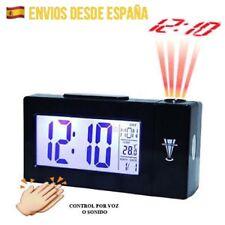 Reloj Despertador Proyector Control Voz Sonido Termómetro Alarma LCD OFERTA!!!!