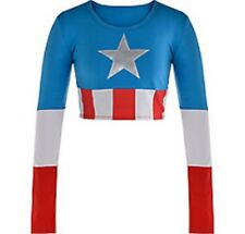 Captain America Dream Civil War Adult Crop Top Marvel Comics Brand New PC631500