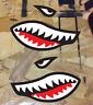 Flying Tigers Shark Teeth Vinyl Decal Sticker - 2 stickers Reverse facing set