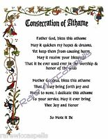 Consecration & Dedication of Athame Poster Wicca Book of Shadows Pagan Spell