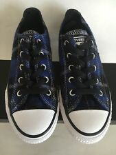 NIB Converse Flannel Blue Plaid  Toddler-Youth Shoes US Size 13